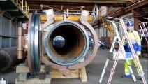 """PORTE COR CITBA - modèle DN 1000 avec assistance hydraulique à l'ouverture. QOC COR CITBA - size 40"""" with opening hydraulic assist."""