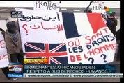 Francia: inmigrantes africanos protestan contra abusos policiales