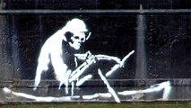 Great Street Art -  Banksy strikes again...