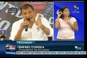 Habla Correa por TV de realidad y percepción a través de los medios