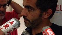 Mathieu blin après la défaite de Agen sur la section paloise