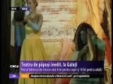 Teatru de păpuşi inedit, la Galaţi. Spectacolul a îmbinat elemente din teatrul tradiţional cu grafica modernă
