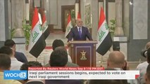 Iraqi Parliament Sessions Begins, Expected To Vote On Next Iraqi Government