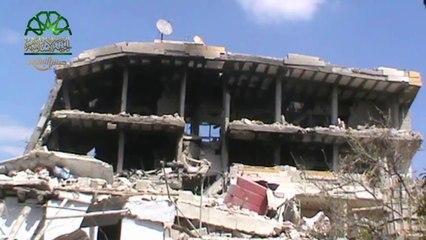 تفخيخ مقر لعصابات الاسد في العاصمة دمشق