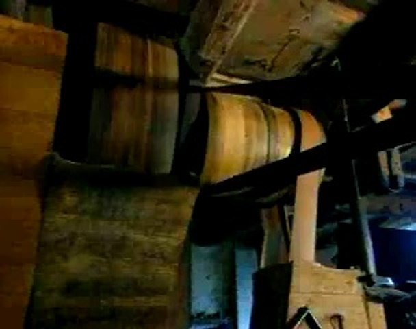 Mule-jenny pour la filature du coton, fin XVIIIe siècle