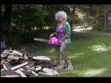 Parody Spoof of Hers 1000 Chainsaw Commercial with Bloopers and Outtakes - Jolean Does it!
