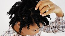 Twist Out Natural Hair 2 Strand Twists Take Down on 4c Hair Tutorial Part 3 of 4