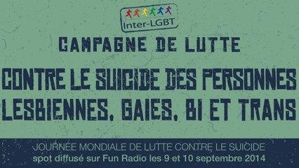 Spot Radio Campagne prévention suicide LGBT