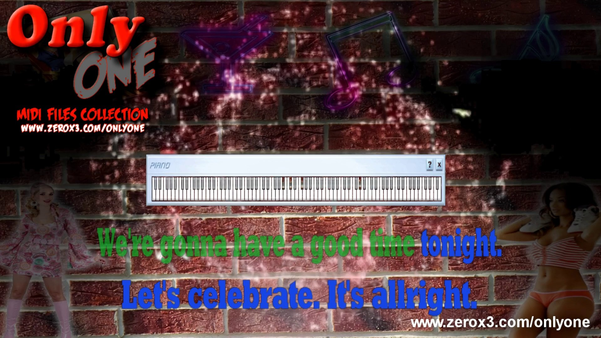 Celebration - Kool & The Gang - Midi File Karaoke (OnlyOne)