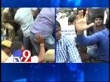 Journalists protests at Raj Bhavan over ban on media, arrested