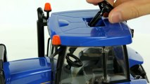 New Holland T8040 Farm Tractor with Front Loader (Bruder 03021) - Muffin Songs' Toy Review