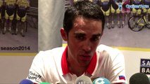 La Vuelta 2014 - Alberto Contador, maillot rouge, lors du 2e jour de repos