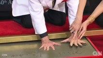 Mel Brooks Wears Prosthetic Finger For Handprint Impression