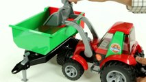 ROADMAX Tractor With Front Loader And Rear Tipper (Bruder 20116)- Muffin Songs' Toy Review