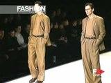 """""""Giorgio Armani"""" Autumn Winter 1998 1999 Milan 3 of 5 pret a porter men by FashionChannel"""