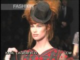 """Karl Lagerfeld"" Autumn Winter 1995 1996 Paris 3 of 3 pret a porter woman by FashionChannel"