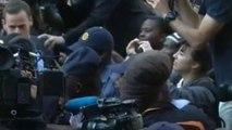 Oscar Pistorius arrives in court for murder trial verdict