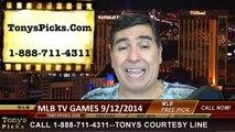 MLB Free Picks Betting Previews Predictions TV Games 9-12-2014