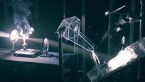 Rube Golderberg machine actionnée par Optique légers