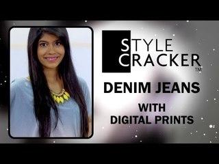Digital Prints II Denim Jeans II StyleCracker