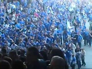 Afición del Real Oviedo en León temp.14/15