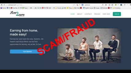 AimtoEarn.net is Fake and Fraud