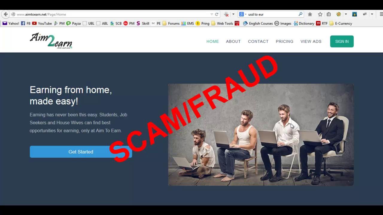AimtoEarn.net is Fake and Fraud