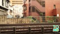 Train suicide - Man jumps from window of moving train in Yokohama, ignoring passengers' pleas.