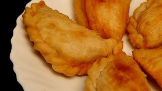 Home-Made Karanji/Gujiya (Wrapped And Fried Puff With Coconut Filling) By Archana