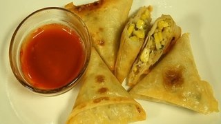 How To Make Corn Samosa By Maithily