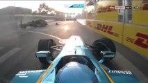 Spectaculaire accident entre Prost et Nick Heidfeld en Formule E