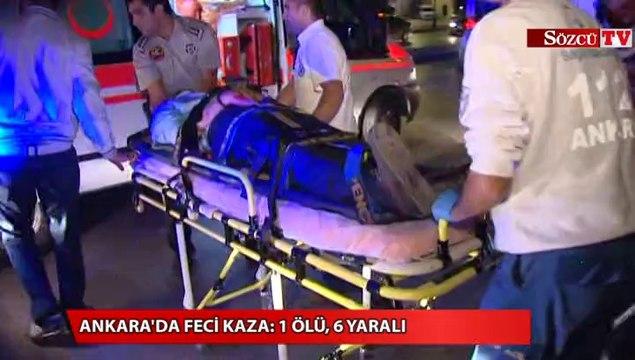 Ankara'da otomobil yayaların arasına daldı