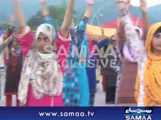 PAT Women Workers Are Doing Different Sorts Of Warm Up Exercises In Order To Remain Fit & Active