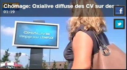 Chômage : Oxialive diffuse des CV sur des panneaux publicitaires