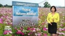 Beautiful autumn weather in store, big temperature gaps