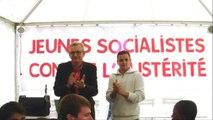 Pierre Laurent devant les jeunes socialistes contre l'austérité