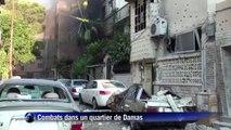 Damas: combats entre des miliciens pro-Assad et des rebelles