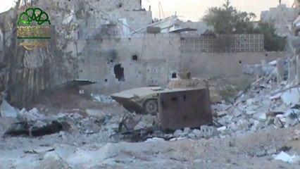 إعطاب عربة bmb لنظام الأسد في حي #جوبرالدمشقي