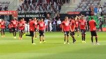13/09/14 : SRFC-PSG : échauffement Stade Rennais