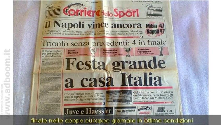 CAGLIARI,    CORRIERE DELLO SPORT DEL 10 GIUGNO 1990 ,MONDIALI DEL 9 EURO 80
