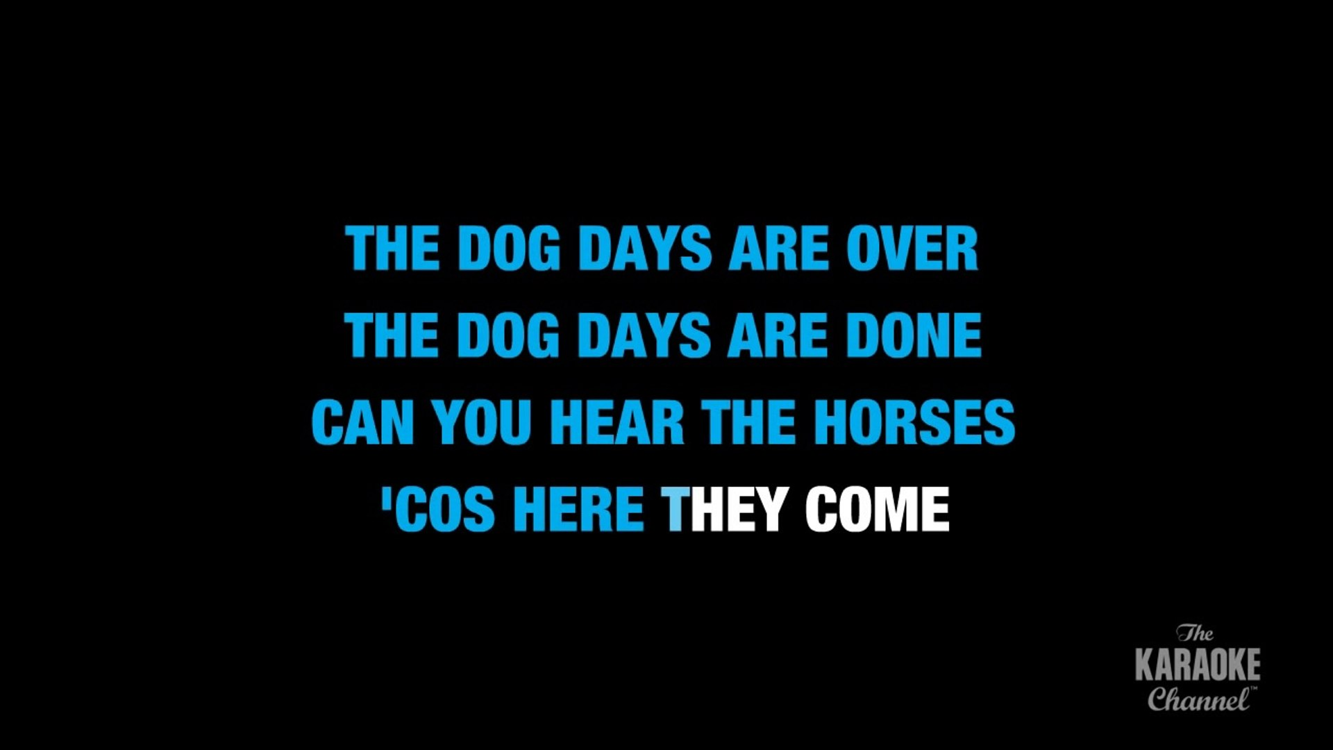 Dog Days Are Over In The Style Of Florence And The Machine With Lyrics With Lead Vocal