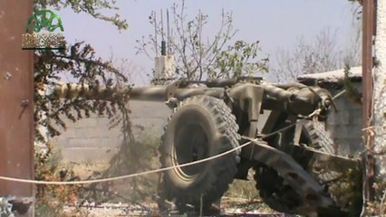 استهداف عصابات الأسد بمدافع محلية الصنع وتحقيق اصابات مباشرة