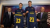 Satoransky y Pleiss, presentados como nuevos jugadores del FC Barcelona