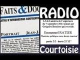 Radio courtoisie 2014.09.07 Rentrée politique avec Emmanuel Ratier - partie 2/2
