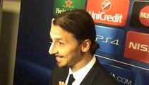Réaction de Zlatan Ibrahimovic en zone mixte après Ajax-PSG (1-1)