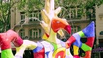 Niki de Saint Phalle - Oeuvres en mouvement - la Fontaine Stravinsky