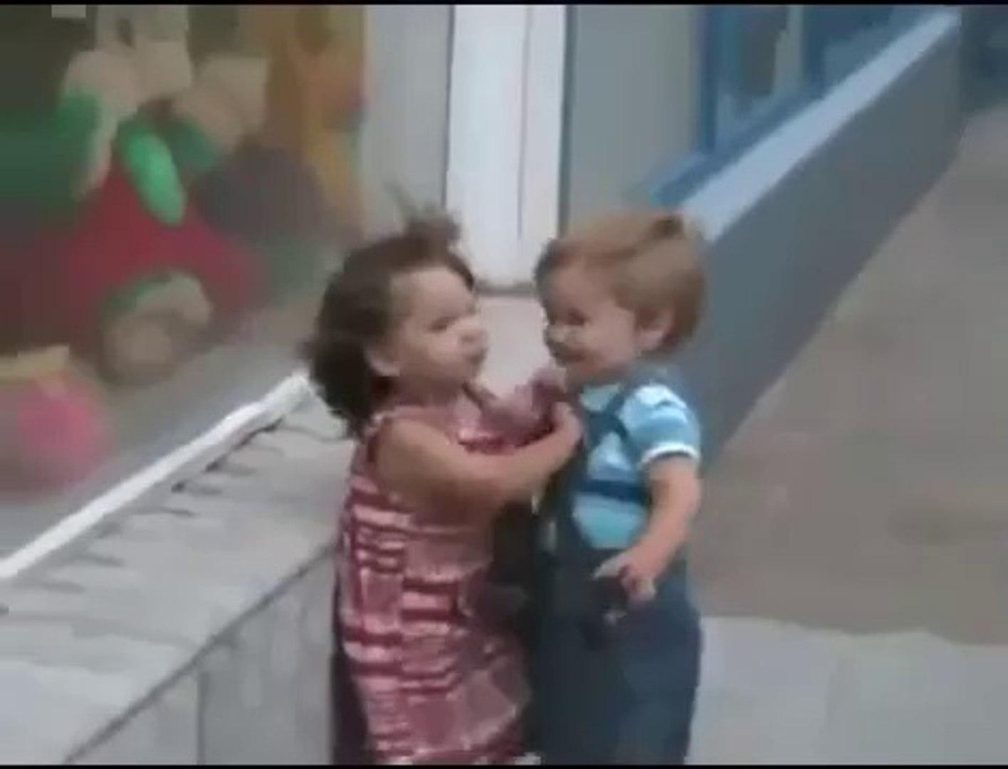 Cute Kids kissing & Cute kids Flirting Funny Video kids hugging