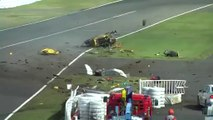 Ferrari 458 Bang And Destroyed During  race