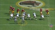 Tableau noir football américain - Le blitz des Redskins