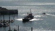 Ambiente puerto y playa de Candás 20 sept 2014